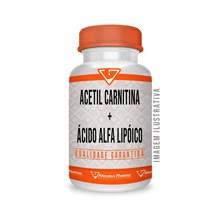 Acetil Carnitina 500mg + Ácido Alfa Lipóico 100mg - 120 Cáps