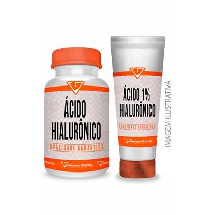 Ácido Hialurônico 50 Mg - 120 Cáps + Creme 1% - 30g