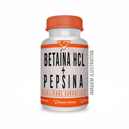 Betaína Hcl 300mg + Pepsina 40mg 180 Cáps