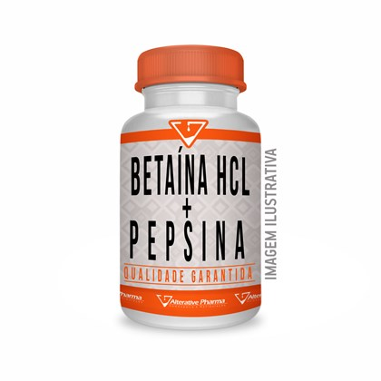Betaína Hcl 300mg + Pepsina 40mg