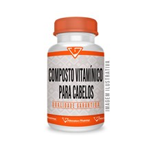Composto Vitamínico Para Cabelos - 90 Cápsulas