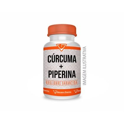 Curcuma Longa 500mg + Piperina 10 Mg - 60 Cápsulas
