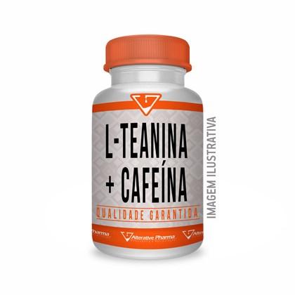 L Teanina 200mg + Cafeina 100mg 60 Cáps Gastroresistente