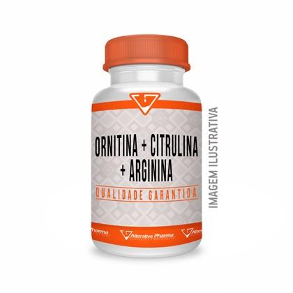 Ornitina + Citrulina + Arginina - 120 Cápsulas