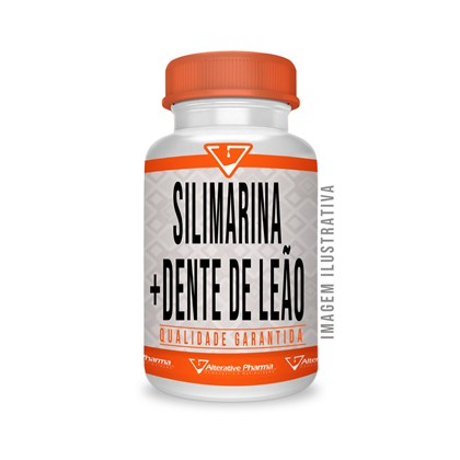 Silimarina 200 Mg + Dente De Leão 250 Mg