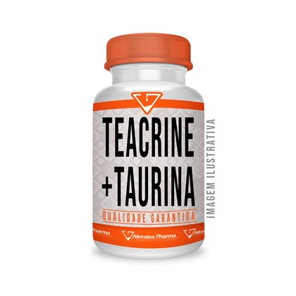 Teacrine ® 200mg + Taurina 250mg 120 Cáps