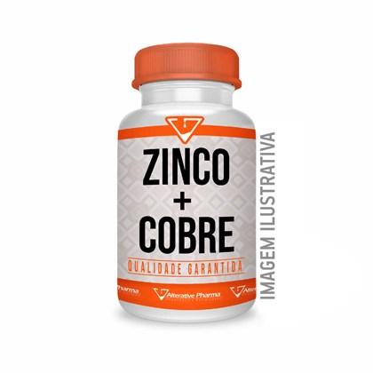 Zinco Quelato 15mg + Cobre Quelato 1mg - 180 Cápsulas